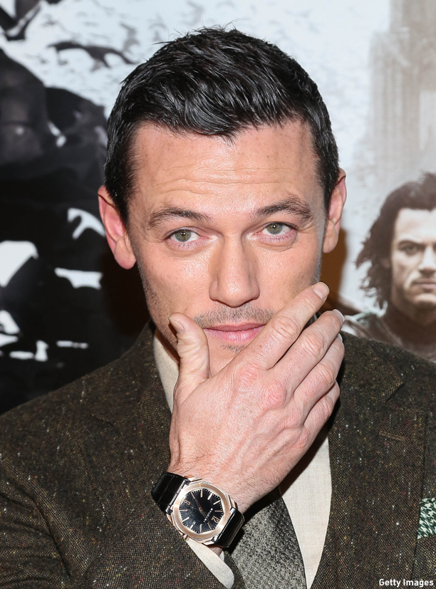 """NEW YORK, NY - OCTOBER 06:  Luke Evans attends """"Dracula Untold"""" New York Premiere at AMC Loews 34th Street 14 theater on October 6, 2014 in New York City.  (Photo by Rob Kim/Getty Images)"""