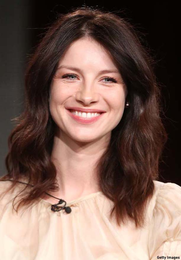 PASADENA, CA - JANUARY 10:  Actress Caitriona Balfe speaks onstage during the 'Outlander' panel discussion at the Starz portion of the 2014  Winter Television Critics Association tour at the Langham Hotel on January 10, 2014 in Pasadena, California.  (Photo by Frederick M. Brown/Getty Images)