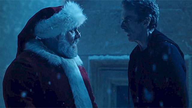 """""""Saint"""" Nick Frost and Peter Capaldi in 'Doctor Who'"""