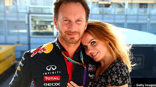 Geri Halliwell and Christian Horner (Pic: Mark Thompson/Getty Images)