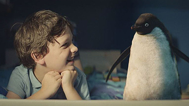 Monty the penguin and friend in this year's John Lewis Christmas ad.