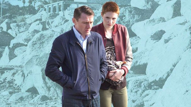 Keir O'Donnell and Karen Gillan in the poster for 'Bound for Greatness' (Pic: Facebook)