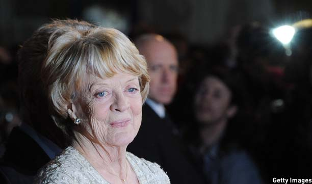 LONDON, UNITED KINGDOM - OCTOBER 15: Dame Maggie Smith attends the Premiere of 'Quartet' during the 56th BFI London Film Festival at Odeon Leicester Square on October 15, 2012 in London, England. (Photo by Stuart Wilson/Getty Images)