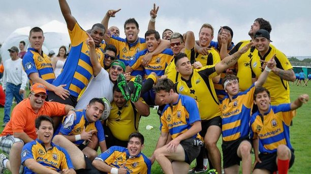 The El Paso Scorpions' Rugby Club poses on the field. (Facebook)
