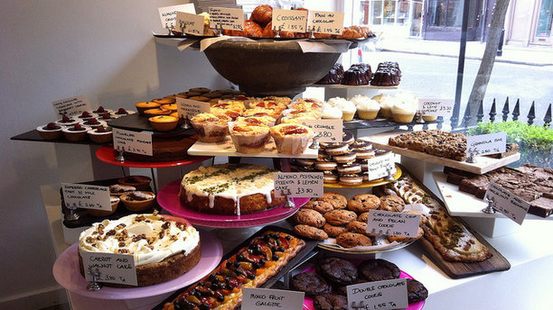 The daily assortment of treats at Ottolenghi. (There's No Place Like Oz)