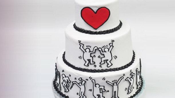 Konditor & Cook's Keith Haring inspired wedding cake. (Konditor & Cook)
