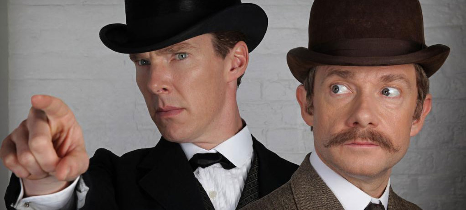 Benedict Cumberbatch and Martin Freeman in 'Sherlock'