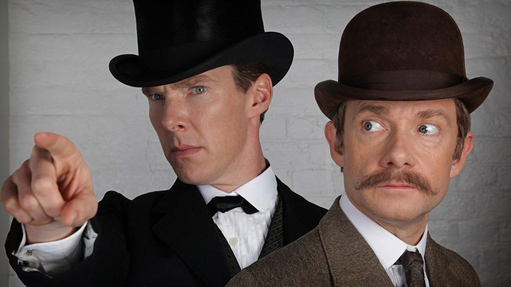 Benedict Cumberbatch and Martin Freeman in 'Sherlock' (Pic: BBC)