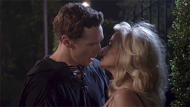 Benedict Cumberbatch and Reese Witherspoon in '9 Kisses' (Pic: New York Times Magazine)