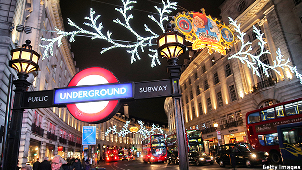LONDON, ENGLAND - DECEMBER 03:  (EDITORS NOTE: This image was processed using digital filters)  Consumers peruse the shops on Regent Street under the Christmas lights on December 3, 2013 in London, England.  (Photo by Oli Scarff/Getty Images)