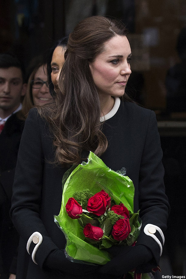 NEW YORK, NY - DECEMBER 08:  Catherine, Duchess of Cambridge, leaves after visiting Northside Center for Child Development on December 8, 2014 in New York City. The royal couple are on an official three-day visit to New York with Prince William also meeting President Barack Obama in Washington D.C on Monday.  (Photo by Carl Court/Getty Images)