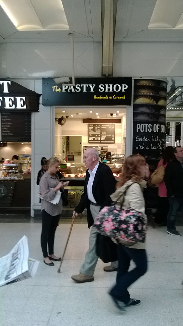 Weighed down with a head cold while traveling, this Pasty Shop at Victorian Station was a beacon of hope. (Me)