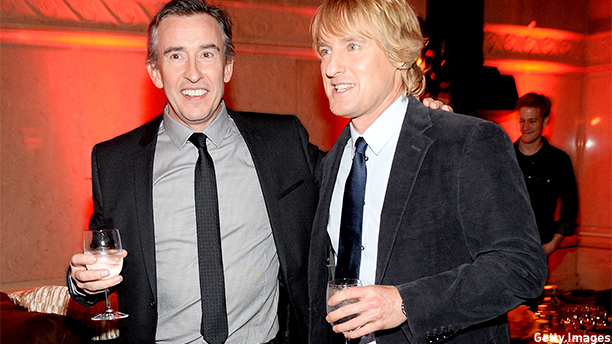"NEW YORK, NY - DECEMBER 11:  Actors Steve Coogan (L) and Owen Wilson attend the ""Night At The Museum: Secret Of The Tomb"" New York Premiere after party at the American Museum of Natural History on December 11, 2014 in New York City.  (Photo by Ben Gabbe/Getty Images)"
