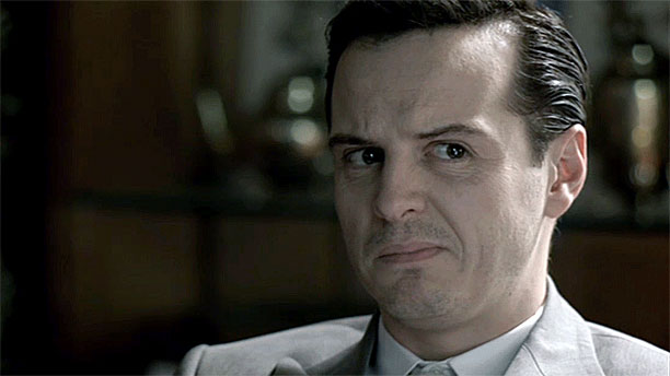 Andrew Scott as Moriarty in 'Sherlock' (Pic: BBC)