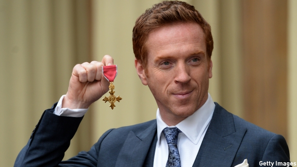 Damian Lewis receiving his OBE in November 2014 (Pic: Anthony Devlin/Getty Images)