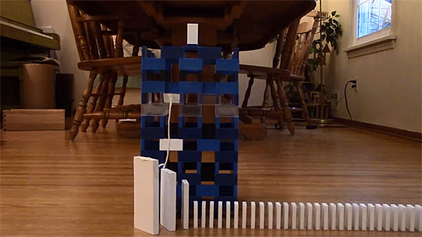The Domino TARDIS (Pic: YouTube)