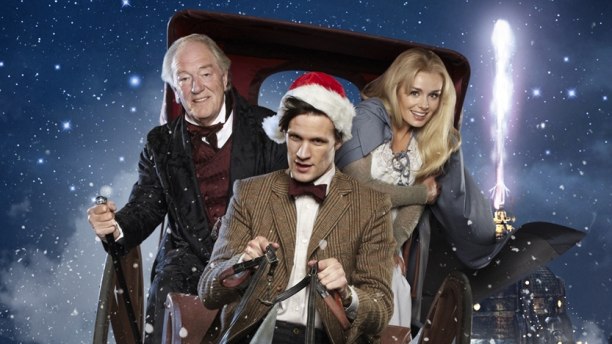 Michael Gambon, Matt Smith and Katherine Jenkins in 'A Christmas Carol' (Pic: BBC)