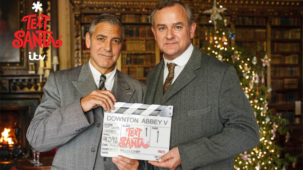 George Clooney and Hugh Bonneville in 'Downton Abbey' (Pic: ITV)