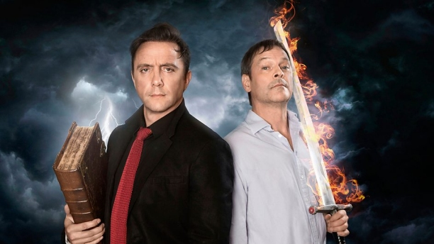 Peter Serafinowicz and Mark Heap in 'Good Omens' (Pic: BBC)