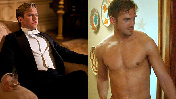 Dan Stevens as Matthew Crawley and David in The Guest.