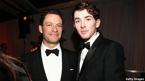 BEVERLY HILLS, CA - JANUARY 11:  Dominic West (L) and Matthew Beard attend The Weinstein Company & Netflix's 2015 Golden Globes After Party presented by FIJI Water, Lexus, Laura Mercier and Marie Claire at The Beverly Hilton Hotel on January 11, 2015 in Beverly Hills, California.  (Photo by Rich Polk/Getty Images for FIJI Water)