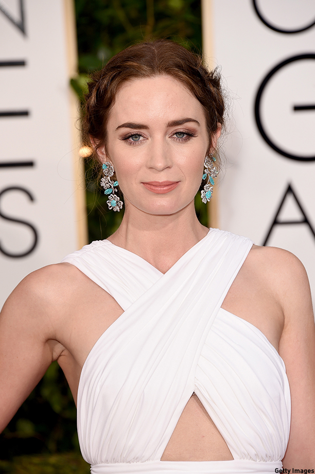 BEVERLY HILLS, CA - JANUARY 11:  Actress Emily Blunt attends the 72nd Annual Golden Globe Awards at The Beverly Hilton Hotel on January 11, 2015 in Beverly Hills, California.  (Photo by Jason Merritt/Getty Images)