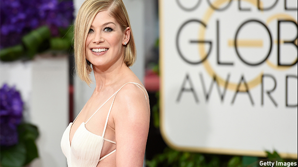 Rosamund Pike received a Best Actress in a Motion Picture, Drama, nomination for her performance in Gone Girl. (Jason Merritt/Getty Images)