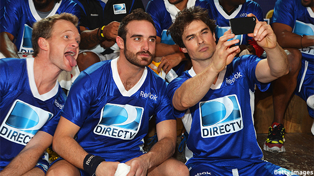 NEW ORLEANS, LA - FEBRUARY 02:  (L-R) Neil Patrick Harris, Joshua Sasse and Ian Somerhalder attend DIRECTV'S Seventh Annual Celebrity Beach Bowl at DTV SuperFan Stadium at Mardi Gras World on February 2, 2013 in New Orleans, Louisiana.  (Photo by Mike Coppola/Getty Images For DirecTV)