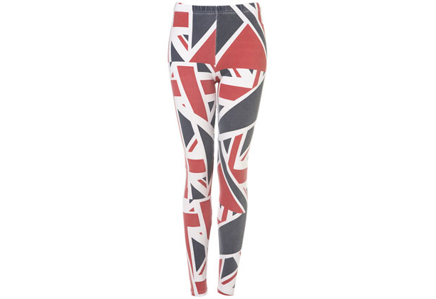 We should all wear matching unisex Union Jack leggings. (Top Shop)