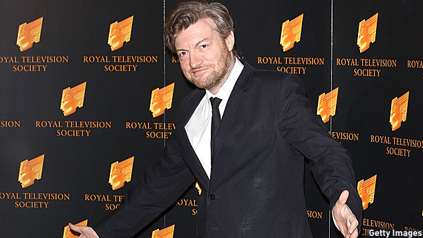 Charlie Brooker actually smiling (Pic: Tim P. Whitby/Getty Images)