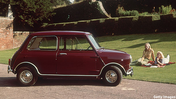 A Mini in 1965 (Pic: Hutton Archive/Getty Images)