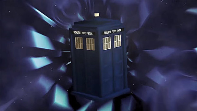 The TARDIS in CloisterProductions' 'Doctor Who' credit sequence
