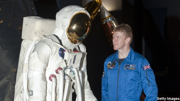 U.K. astronaut, Major Tim Peake. (Pic: Will Oliver/AFP/Getty Images)