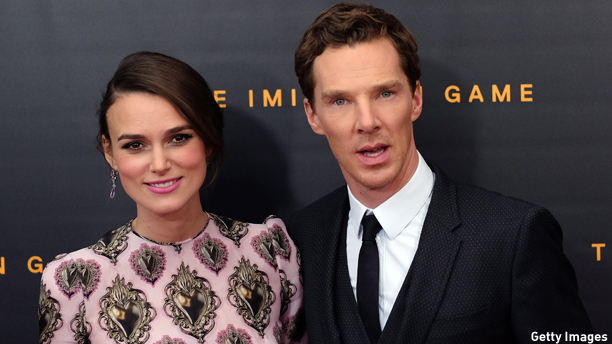 "Keira Knightley and Benedict Cumberbatch at the premiere of ""The Imitation Game."" (Photo: Jewel Samad/AFP/Getty Images)"