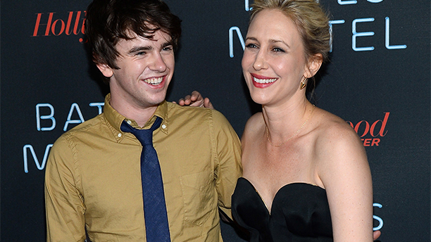 Freddie Highmore and co-star Vera   (Ethan Miller/Getty Images)