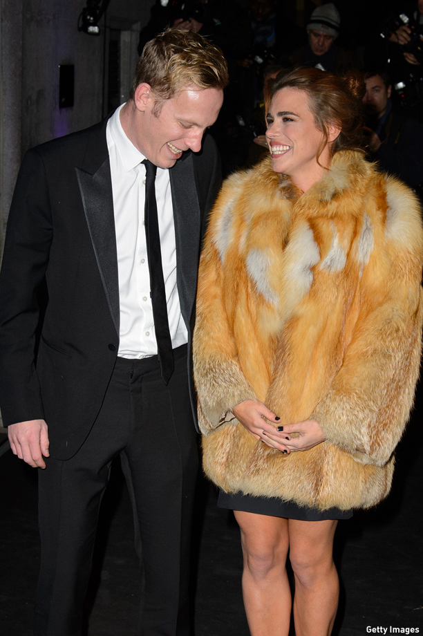 LONDON, ENGLAND - NOVEMBER 17:  (L-R) Laurence Fox and Billie Piper attend the Evening Standard Theatre Awards at The Savoy Hotel on November 17, 2013 in London, England.  (Photo by Ben A. Pruchnie/Getty Images)