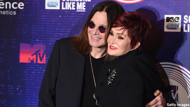 GLASGOW, SCOTLAND - NOVEMBER 09:  Ozzy Osbourne and Sharon Osbourne attend the MTV EMA's 2014 at The Hydro on November 9, 2014 in Glasgow, Scotland.  (Photo by Ian Gavan/Getty Images for MTV)