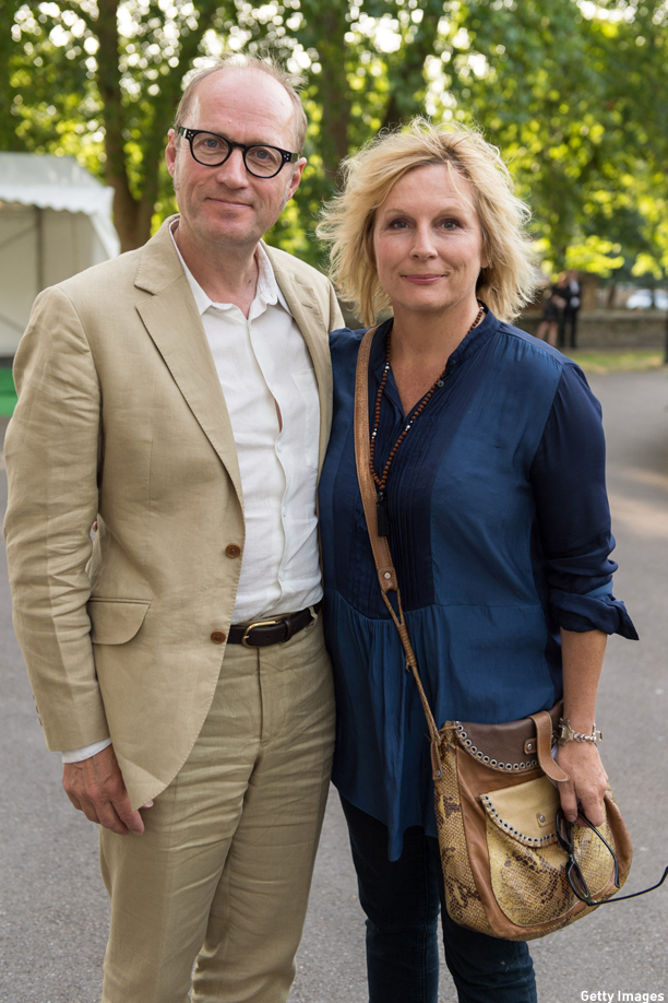 LONDON, ENGLAND - JULY 17: Adrian Edmonson and Jennifer Saunders attend a party to mark the reopening of Imperial War Museum on July 17, 2014 in London, England.  (Photo by Ian Gavan/Getty Images)