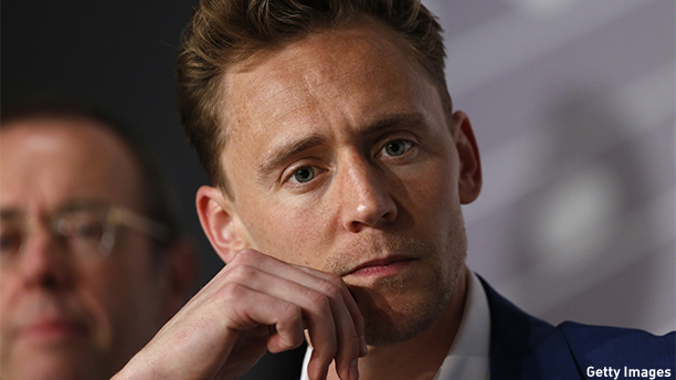 Tom Hiddleston is snapped deep in thought. (VALERY HACHE/AFP/Getty Images)