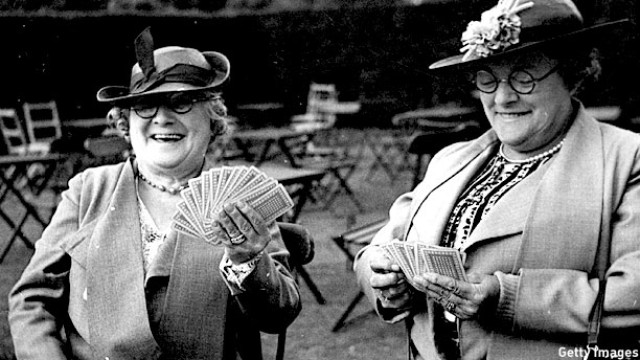 10th August 1942: Two ladies play whist in London, 1942 (Pic: R. J. Salmon/Fox Photos/Getty Images)