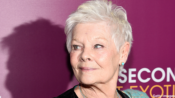 Dame Judi Dench at the New York premiere of 'The Second Best Exotic Marigold Hotel' (Photo: Dimitrios Kambouris/Getty Images)