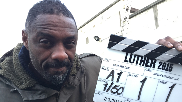Idris Elba on the set of 'Luther' season four (Pic: BBC)