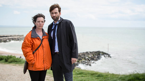 Olivia Colman and David Tennant on 'Broadchurch' (Photo: BBC AMERICA)