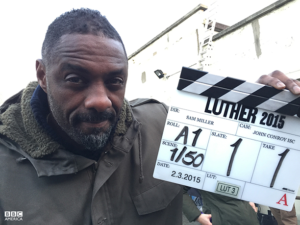 Idris Elba on the set of 'Luther' (Photo: BBC AMERICA)