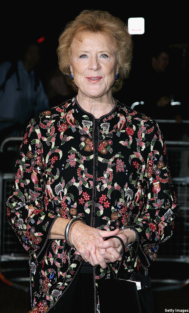 LONDON - OCTOBER 10:  Actress Judy Parfitt arrives at the UK premiere of 'The Aryan Couple' at the Odeon West End on October 10, 2006 in London, England.  (Photo by Gareth Cattermole/Getty Images)