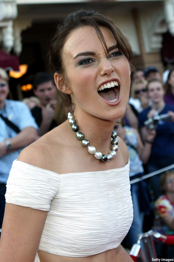 Keira Knightley At The Pirates Of The Caribbean