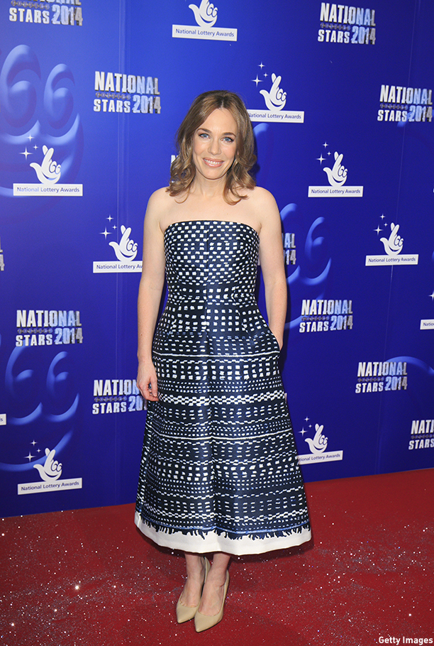 IVER HEATH, ENGLAND - SEPTEMBER 12:  Laura Main attends the National Lottery Awards at Pinewood Studios on September 12, 2014 in Iver Heath, England.  (Photo by John Phillips/Getty Images)