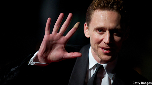 British actor Tom Hiddleston attends the film premiere of 'Only Lovers Left Alive' during the London Film Festival in central London, on October 19, 2013. AFP PHOTO/ANDREW COWIE        (Photo credit should read ANDREW COWIE/AFP/Getty Images)