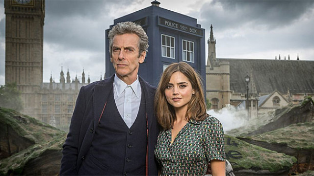 Peter Capaldi and Jenna Coleman in 'Doctor Who' (Pic: BBC)