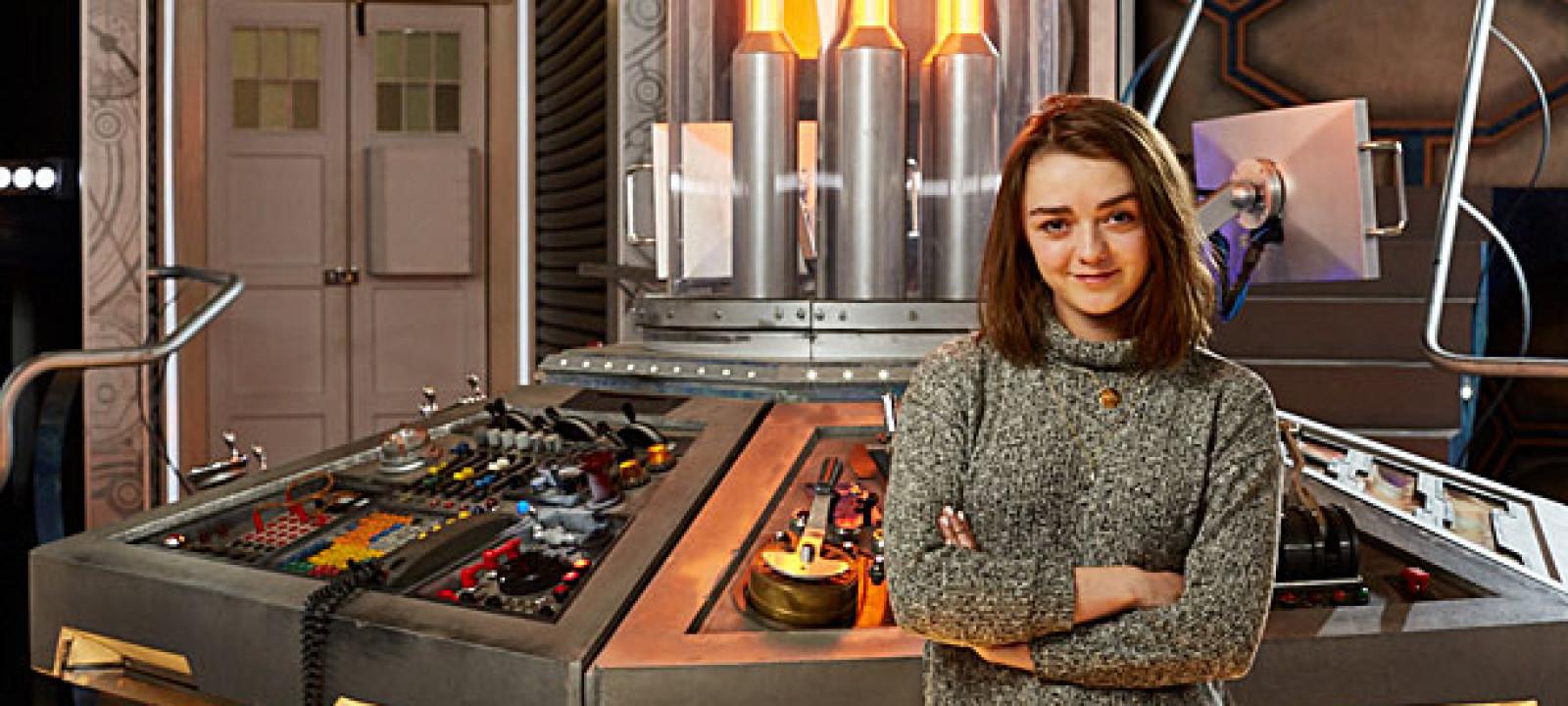Maisie Williams in the TARDIS (Pic: BBC)